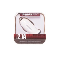 Автомобильное зарядное устройство USB, Remax, 2.1А, 1xUSB, белый