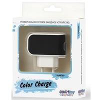 Сетевое зарядное устройство USB, SmartBuy COLOR CHARGE, 2.1A, 1xUSB, черный (SBP-8000)
