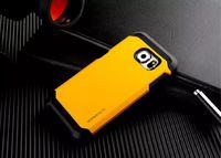 Чехол-накладка на Samsung S6 пластик, силикон, противоударный, Slimarmor, желтый