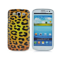 Чехол-накладка на Samsung S3 пластик, leopard