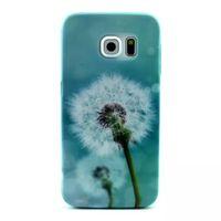 Чехол-накладка на Samsung S6 Edge силикон, flower