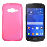 Чехол-накладка на Samsung Ace4 Lite/Neo (G313/G318) силикон, S-line, розовый