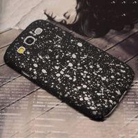 Чехол-накладка на Samsung S3 пластик, 3d effect, черный