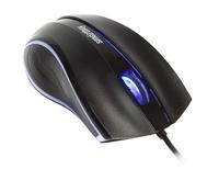 Мышь проводная, Smart Buy 338, оптическая, 3кн, подсветка, черный