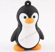 Память USB 2.0 Flash, пингвин, черный, 8 Gb