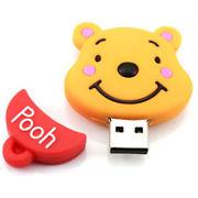Память USB 2.0 Flash, винипух, желтый, 8 Gb