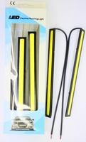 Дневные ходовые огни, сверхяркие, полоски 17см, белый 5000K, комплект 2шт.