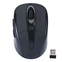Мышь беспроводная, Noname, оптическая, 5кн, матовая, глянцевая, черный