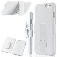 Чехол-накладка на Apple iPhone 6/6S Plus, пластик, держатель, клипса, белый