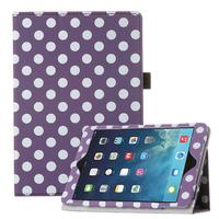 Чехол Smart-case для Apple iPad mini 1,2,3, полиуретан, в горошек, фиолетовый