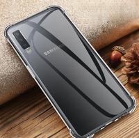 Чехол-накладка на Samsung A50 (A505) (2019) силикон, ультратонкий, прозрачный
