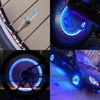 Светодиодные колпачки на ниппель авто/велосипеда, 2шт, синий