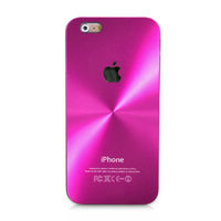 Чехол-накладка на Apple iPhone 6/6S, пластик, алюминий, CD, ярко-розовый