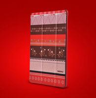 Чехол Smart-cover для Apple iPad mini 1,2,3, полиуретан, красный с рисунком
