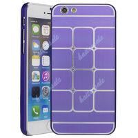 Чехол-накладка на Apple iPhone 6/6S, пластик, алюминий, куб, фиолетовый