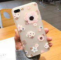 Чехол-накладка на Apple iPhone 6/6S Plus, силикон, цветы