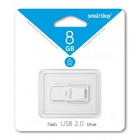 Память USB 2.0 Flash, 8GB, Smart Buy Funky series White