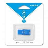 Память USB 2.0 Flash, 8GB, Smart Buy Funky series Blue