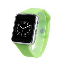 Смарт-часы W8, microSim, 240*240 TFT, BT, 0,3Mp cam, microSD, зеленый