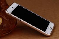 Бампер на Apple iPhone 6/6S, алюминий, золотистый