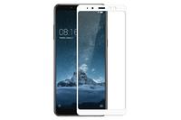 Защитное стекло для Samsung Galaxy A8 Plus (2018) на дисплей, с рамкой, белый