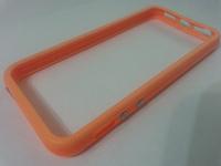 Бампер на Apple iPhone 5/5S, силикон, пластик, оранжевый