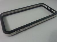 Бампер на Apple iPhone 5/5S, силикон, пластик, черно-белый