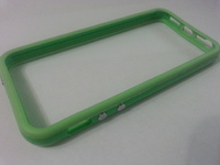 Бампер на Apple iPhone 5/5S, силикон, пластик, зеленый