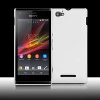 Чехол-накладка на Sony Xperia M пластик, 0,5мм, белый