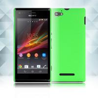 Чехол-накладка на Sony Xperia M пластик, 0,5мм, зеленый