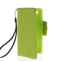 Чехол-книжка на Sony Xperia M кожа, защелка с язычком, зеленый