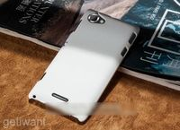 Чехол-накладка на Sony Xperia L пластик, белый