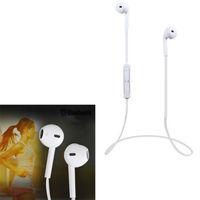 Наушники с микрофоном, EarPod S6, Bluetooth, стерео, микрофон, белый