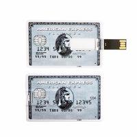 Память USB 2.0 Flash, кред. карта, серый, 8 Gb