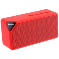 Портативная колонка, X3, Bluetooth, USB, FM, AUX, microSD, BL-5C, красный