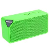 Портативная колонка, X3, Bluetooth, USB, FM, AUX, microSD, BL-5C, зеленый