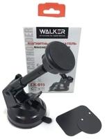Автомобильный держатель, WALKER CX-015, присоска, магнитный, выдвижная штанга, черный
