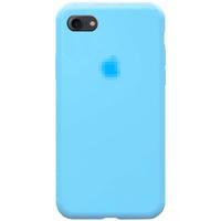 Чехол-накладка на Apple iPhone 7/8/SE2, силикон, original design, микрофибра, c лого, голубой