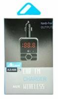 FM-модулятор, Allison A906, Bluetooth, 2xUSB, microSD, AUX, пульт