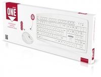 Набор беспроводной клавиатура + мышь, Smart Buy 212332AG, полноразмерная, белый