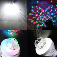 Светодиодная диско лампа, вращающаяся, белый/RGB, управление с ПДУ
