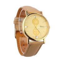 Часы наручные Geneva, ц.бежевый, р.бежевый, кожа Д02040