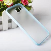 Чехол-накладка на Samsung S6 силикон, матовый, голубой