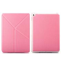 Чехол Smart-cover для Apple Ipad Air 2, полиуретан, трансформер, розовый