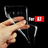Чехол-накладка на Samsung A7 силикон, ультратонкий, прозрачный