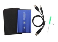 "Бокс для HDD, 2.5"", USB2.0, USB2.0-USB2.0, алюминий, синий"