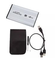 """Бокс для HDD, 2.5"""", USB2.0, USB2.0-USB2.0, алюминий, серебристый"""