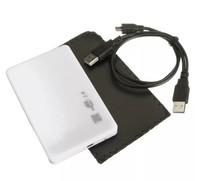 """Бокс для HDD, 2.5"""", USB2.0, USB2.0-miniUSB, белый"""