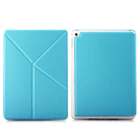Чехол Smart-cover для Apple Ipad Air 2, полиуретан, трансформер, голубой