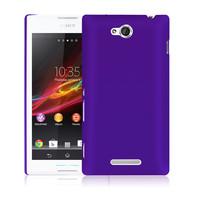 Чехол-накладка на Sony Xperia C пластик, фиолетовый